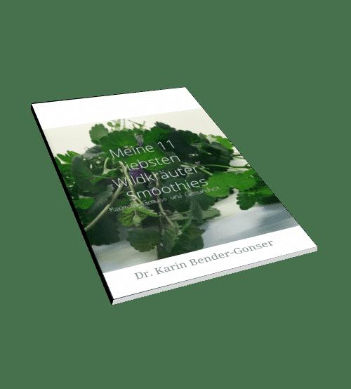 11 Wildkräutersmoothies, die gegen bestimmte Krankheitssymptome helfen, werden in diesem E-Book vorgestellt.